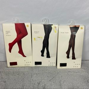 NEW BUNDLE 3 Target A New Day Tights & Thigh Highs